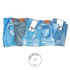 Good objects - jeans, jeans, jeans #goodobjects #illustration #watercolor