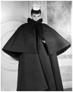 Luki in Balenciaga Coat, Paris 1953 Louise Dahl-Wolfe Archive.