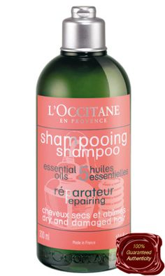 Treating your hair to daily or weekly heat based styling such as straightening or curling can have an adverse effect on its quality and growth. As such you should use a shampoo that is powerful enough to combat the series of damaging problems that occur with these treatments such as L'Occitane Aromachologie Repairing Shampoo.