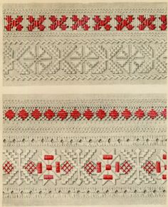 FolkCostume&Embroidery: White, Black and Red Embroidery of Chernyhiw Province and East Polissia, Ukraine
