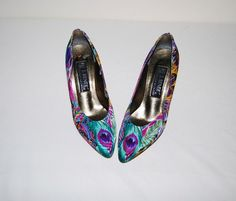 Peacock Vintage Shoes by CheekyVintageCloset on Etsy, $32.00
