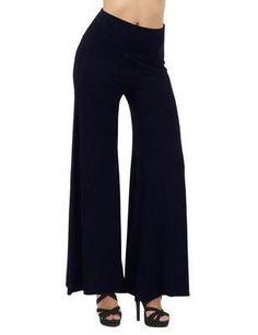 Pure Color High Waist Wide Leg Long Pants
