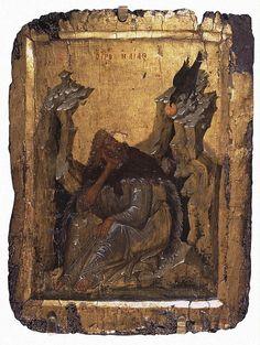 Icon: Prophet Elijah in the Wilderness
