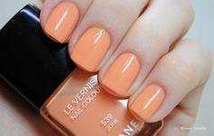 Chanel June -- an apricot orange polish, gorgeous.