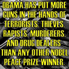 And he STILL wants to take the guns of us Constitution-loving Patriots. I guess we're not his idea of responsible gun owners...