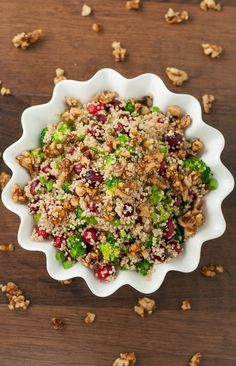 Cranberry Quinoa Salad with Candied Walnuts   Community Post: 27 Vegan Thanksgiving Dishes That Will Make Meat Eaters Drool