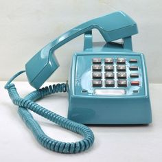 Teal Blue 2500 Desk Phone II by聽 American Telephone Store // this colour!