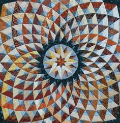 Quilt Inspiration  This circular pattern is from Bella Bella Quilts by Norah McMeekin