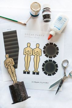 Oscars Party – Free Printable Oscar Trophy Award !