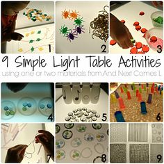 lights, lighttabl, activities for kids, children lightmirror, tabl activ, boxes, learning, light box activities, light table