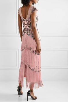 Blush tulle Concealed hook and zip fastening at back nylon; Beautiful Dresses, Nice Dresses, Stuart Weitzman Sandals, Formal Dresses For Teens, Marchesa, Tulle, Gowns, Blush, Casual Menswear