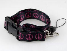 "Fashion""Pink Peace"" I.d Holder & Cellphone Keyholder Lanyard Lanyard Keychain, Id Holder, Pink Fashion, Belt, Accessories, Belts, Key Bracelet, Jewelry Accessories"