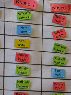 This is an awesome ways for teachers to get students focused, and provides incentives for them. For example, if students do their math work, math writing, and math by themself, then they have earned to work with a partner by the wend of the week!