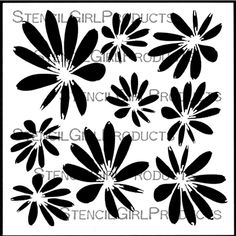 Tossed Blossoms Stencil designed by Terri Stegmiller for StencilGirl Products $7.00