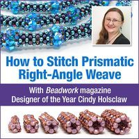 *P Bead Origami: Prismatic Right-Angle Weave (PRAW)