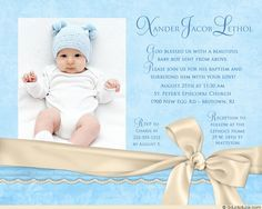 22 Best Sept 3 Images Baptism Invitation For Boys Christening