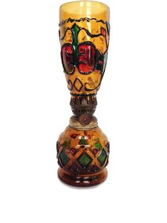 Multi colored glass oil lamp vintage home by BellBottomVintage, $17.00
