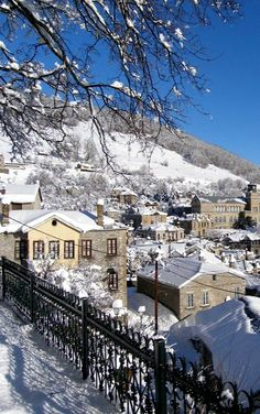 Winter in Nymfaio Village in Florina - Macedonia, Greece Beautiful Islands, Beautiful Places, Places Around The World, Around The Worlds, Myconos, Macedonia Greece, Greece Travel, Greek Islands, Athens