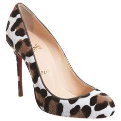 Christian Louboutin Casual Special Offers Finest Materials Fifi Leopard Pony Hair Red Sole Shoes Online Shopping