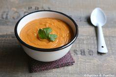 Velouté de lentilles corail Veggie Recipes, Fall Recipes, Soup Recipes, Thai Soup, Miso Soup, Toscana Soup, Foods To Eat, Food And Drink, Yummy Food