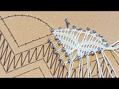 Onda Palmera de Encaje de Bolillos - Raquel M.Adsuar B0lillotuber - YouTube Bruges Lace, Bobbin Lacemaking, Bobbin Lace Patterns, Lace Heart, Lace Jewelry, Diy Headband, Needle Lace, Lace Making, Embroidery Techniques