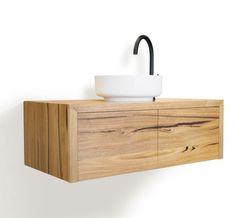 Wall Hung Solid Timber Bathroom Vanity Timber Bathroom Vanities, Wall Hung Vanity, Bathroom Inspiration, Kitchen, Cooking, Kitchens, Cuisine, Cucina, Kitchen Floor