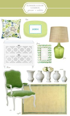 Green and White Summer Color Scheme.