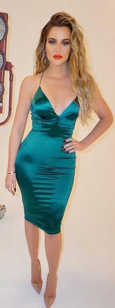 Khloe Kardashian in Dress – Jlux Label Shoes – Christian Louboutin