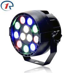 ZjRight 15 W plana LED Par RGBW luz de la etapa Del Disco de La Lámpara luces de discoteca de luz láser de Haz de luz de proyector dmx lumiere controlador
