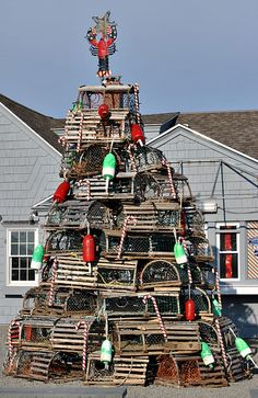 Lobster traps are a great #Halifax souvenir...pick up a few each time you visit and soon you'll have enough for your own lobster trap tree.