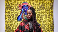 """""""In my work I am telling the story—this African American side—of the American life. Deborah Roberts, Fine Arts Major, Faith Ringgold, African American Artwork, African Traditions, American Quilt, African American Hairstyles, Museum Exhibition, Art Institute Of Chicago"""