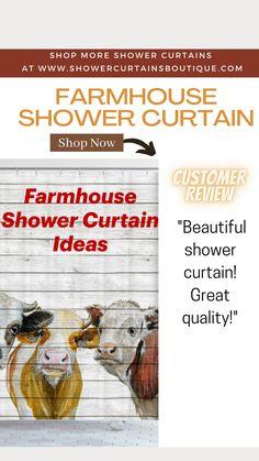 Farmhouse Shower Curtain, Curtain Shop, Rustic Curtains, Shower Curtains, Rustic Farmhouse, Beautiful