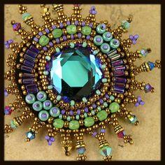 Star Burst Brooch by Beaded Art Jewelry, via Flickr
