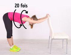 5 Exercices pour obtenir un ventre parfait à faire avec une simple chaise