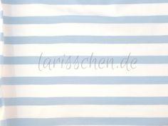 Stoff Streifen - Sanetta Baumwolljersey Stretch Strei weiß-rbla 0,5 - ein Designerstück von larisschen-de bei DaWanda