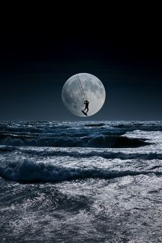 Kitesurfer in a blue night sky horizon by Mira Pen on 500px                                                                                                                                                      More