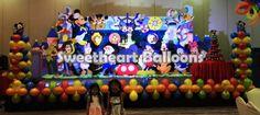 disney theme on stage  call us@09178908628                    5249882  #sweetheartballoons #disneycharactertheme #stagedesign #balloonpillars