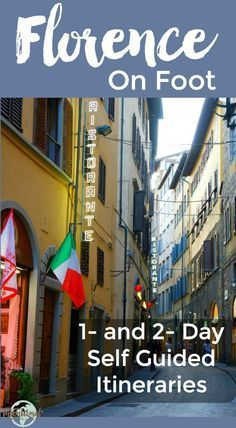 Free walking tour map and self guided one- and two-day walking tour itineraries for Florence Italy | Intentional Travelers