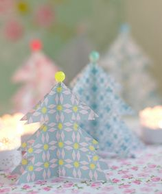 DIY Pastel Paper Christmas Trees Tutorial