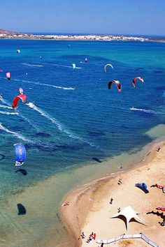 Kite flying in Paros, Cyclades