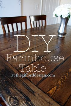 We're dying for a Farmhouse table like this! DIY Farmhouse Table - I like this, for when we have a bigger dinning room in the future!