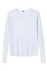 <p>The Base Long Sleeve T-shirt is made from a soft jersey fabric with a thin stripe pattern. It has a relaxed rounded neckline and long raglan sleeves.</p><p>- Size Small measures 90 cm around chest and 60 cm in length. The sleeve length is 70 cm.</p>