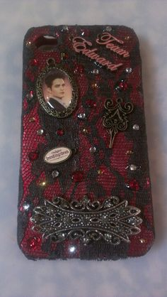 Team Edward DIY phone case for Apple iPhone 4/4s. Twilight DIY phone case. Twilight theme DIY phone case.