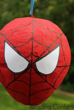 Make your own fun Spiderman Pinata for your son's party.