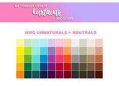 mayuonline Hey Everyone! Today I finished these BG Toddler Update Curtains in Unnaturals and Neutrals from WMS Sandwich Colours Palette. I'm OPEN for RECOLOR REQUESTS ~ • I have all packs except...