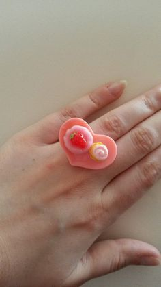 Cakes on Plates Ring by Pretty Penguin - £3.50 #kawaii #lolita #accessory