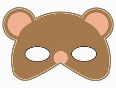 TEDDY BEAR MASK - FREE PRINTABLE