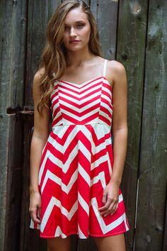 gilt   gossamer - Red/Cream Chevron Dress, $34.00 (http://www.giltandgossamer.com/red-cream-chevron-dress/)