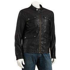Marc Anthony Slim-Fit 4-Pocket Faux-Leather Jacket - Men #Kohls