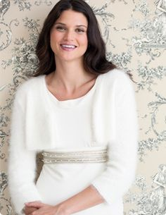 A replica of the shrug Princess Kate wore after the royal wedding. Available from Vogue Knitting